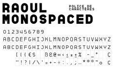 Raoul — Font — AinsiFont — Fonderie Digitale