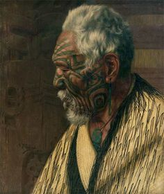 Maori cultural masterpiece by Charles F Goldie - oil painting Ta Moko Tattoo, Thinking In Pictures, Polynesian People, Maori People, New Zealand Landscape, Maori Designs, New Zealand Art, Nz Art, Maori Art