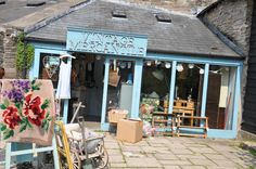 Vintage Mercantile, Backfold, Hay-on-Wye, UK. A mixture of textiles, furniture, lighting and Annie Sloan Chalk Paint™ stockist. Second Hand Furniture Stores, Brick And Mortar, Store Displays, Antique Shops, Store Fronts, Annie Sloan, Store Design, Wales, Bucket