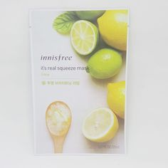 Innisfree It's Real Squeeze Facial Masks Lime 20ml 3/8/16/35 Sheets Lot #Innisfree