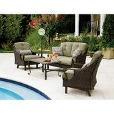 Found it at Wayfair - Ventura 4 Piece Deep Seating Group with Cushions