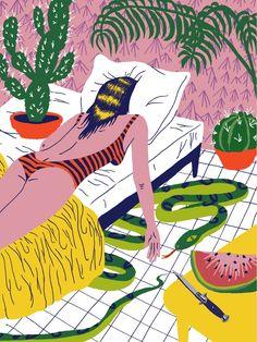 VO | Valérie Oualid : Agent d'illustrateurs | Ludwick Hernandez | L'été Illustration, Fiction, Artist, Movies, Movie Posters, France, Films, Artists, Film Poster