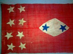 According to the early members of the Duxbury GAR post, this is a Confederate headquarters flag taken from New Orleans.