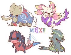 Monster Hunter Cosplay, Monster Hunter Memes, Monster Hunter World, Creature Drawings, Creature Concept Art, Cute Monsters, Creepy Cute, Dragon Art, Pokemon