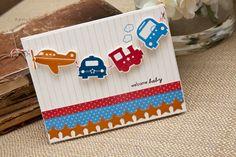 Make It Monday #80 | Making Garland » A New Design blog    cute baby card