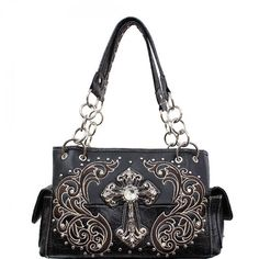 Concealed Carry Rhinestone Cross Handbag – Hay River Tack and Supplies