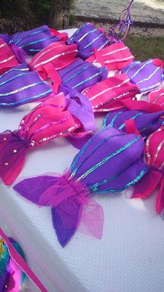 Bolsas para dulces en forma de cola de sirena