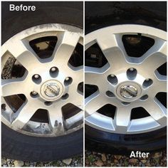 Use a cleaning powder and water to clean your wheels. | 23 Ways To Make Your Car Cleaner Than It's Ever Been