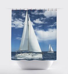 Nautical shower curtains,sailing,Bed and Bath, shower curtains, bathroom curtain bathroom decor, surfing,sunset curtains, ocean curtains. by BigWaveClothingCo on Etsy