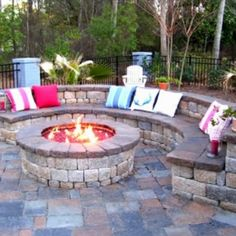 Fire pit by Nixmak - love this cosy idea - need a bigger yard to accommodate all these wonderful ideas.