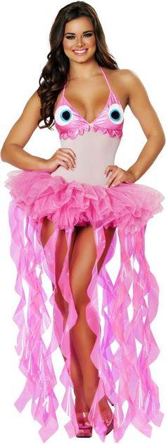 Cute Marine Sea Life Jellyfish Tutu Skirt Halloween Costume Outfit Adult Women #Roma #CompleteCostume