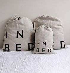 Linen Duvet Cover in Indigo by IN BED