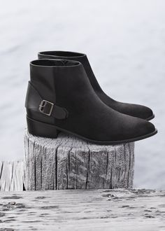 MANGO - Buckle leather ankle boots #FW14 #NEW #2014