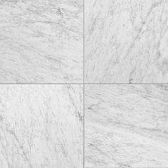 White Carrara C Honed Marble Tiles - Marble Systems Inc.