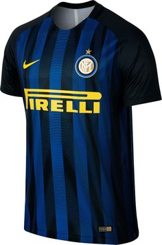 The new Nike Inter Milan home kit is an absolute stunner with an eye-catching and unprecedented standout feature. Football Outfits, Football Jerseys, Team Wear, Jersey Shirt, Milan, Soccer, Tees, Sports, Italy