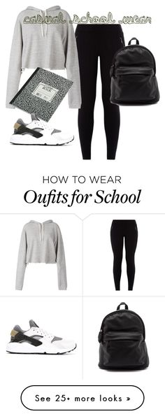 """""""casual school wear"""" by craytonmel on Polyvore featuring Faith Connexion and NIKE"""