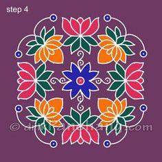 This page provides Dot Rangoli Designs and Patterns for Hindu festivals. In Tamil Nadu Rangoli is known as Kolam, Mandana in Rajasthan, Chowk Purna in Northern India, Alpana in West Bengal, Aripana in Bihar and Muggu in Andhra Pradesh. Indian Rangoli Designs, Rangoli Designs Latest, Rangoli Border Designs, Small Rangoli Design, Rangoli Ideas, Rangoli Designs With Dots, Rangoli Designs Images, Rangoli With Dots, Beautiful Rangoli Designs