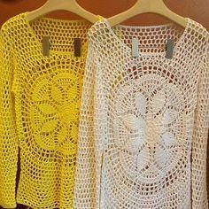 Como tejer una blusa calada con mangas largas