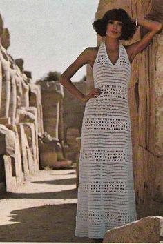 TRICO y CROCHET-madona-mía: Vestidos a Crochet Modelos.Vintage Sin patrón para expertas