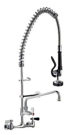 """AB Restaurant Equipment Pre-Rinse Faucet with 12"""" Add-On Faucet AB Restaurant Equipment http://www.amazon.com/dp/B008LVIIUO/ref=cm_sw_r_pi_dp_keXfub1HRS2C3"""