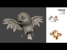 ? Zbrush Timelapse - Cartoon bird - YouTube via PinCG.com