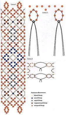 """Netting variatie   Пояс """"Фантазия"""" schema"""