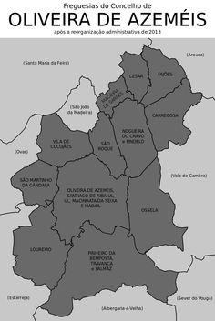 Freguesias do concelho de Oliveira de Azeméis