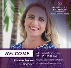 BERKSHIRE HATHAWAY HOMESERVICES FLORIDA NETWORK REALTY WELCOMES KATERINA DEVANE