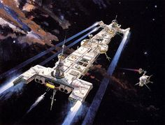 Masterful Vintage THE BLACK HOLE Concept Art by Robert T. McCall USS Palomino The ship the crew rode in was designed to look very different from the final design but finally got close to the final look.