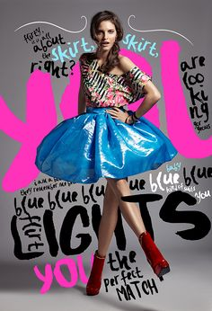Lenka Srsnova Fashion Editorial  The font used is different but still readable, the use of bright colour is really effective