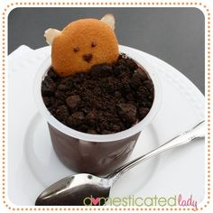 Groundhog Day Pudding Cups. Too cute - need to make these someday for the kiddos!