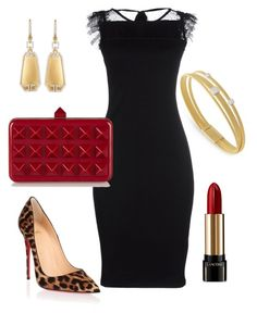 """""""Cocktail Party"""" by kmags4 on Polyvore featuring Marco Bicego, RED Valentino, Christian Louboutin, Valentino, Lancôme and Ivanka Trump"""