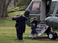 """Checkout Ivanka Trump's Children Board the Marine One With Donald Trump for the First Time     Arabella Rose Kushner 5 and Joseph Frederick Kushner 3 boarded the Marine One airplane for the first time alongside their grandfather President Donald Trump. The  kids matched the POTUS in navy blue ensembles climbing the stairs to  the aircraft as Donald saluted a marinea moment their proud mommy had  to share on Instagram. """"Marine One"""" she captioned the photo alongside a U.S. flag.This  marks…"""