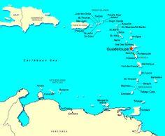 Kijk eens wat un skitterende eilanden en vooral, Guadeloupe.