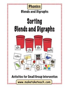 Consonant Blends and Digraphs Sorting. The things I like, the things I don't like. Kids cut items out and pin under correct pile Reading Activities, Literacy Activities, Teaching Reading, Teaching Ideas, Learning, Phonics Blends, Blends And Digraphs, Teaching Phonics, Kindergarten Literacy