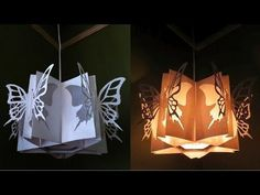 Butterfly lamp - learn how to make a butterfly lantern - EzyCraft - YouTube