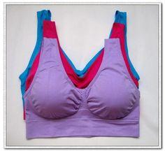 3pcs/set sexy genie bra With Pads Seamless push up bra plus size XXXL underwear wireless (black/white/nude) (red/blue/purple)-Women's Bras-Enso Store-redbluepurple-One Size-S-Enso Store