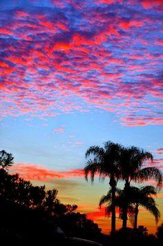 Amazing Sunset at Cocoa Beach, Florida.