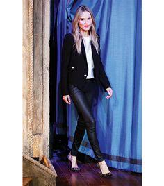 Kate Bosworth Topshop Textured Leather Look Leggings ($44)