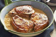 Χοιρινά μπριζολάκια με σάλτσα μουστάρδας και πουρέ καρότου | Συνταγές - Sintayes.gr
