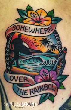 overthesurfer SOMEWEAR OVER THE RAINBOW- Samuele Briganti Tattoo Artist #lesdoitmagazine #tattoo