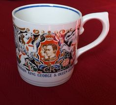 1937 George VI Coronation Cup by Dame Laura Knight - Blue Band Great Condition