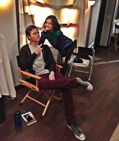 #PLL BTS of 7x05 - Lucy Hale and Ian Harding