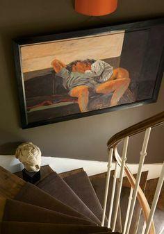 .Wall art , sculpture ,stairway