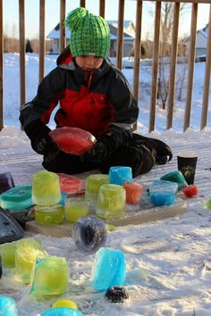 Mini Matisse: Colored Ice Blocks-- Make a winter sculpture!