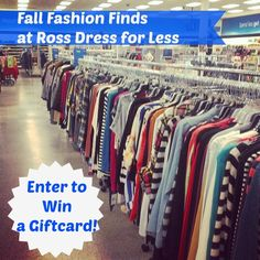 Fall Fashion Finds at Ross Dress for Less **Giveaway** Ross Store, Dresses For Less, Enter To Win, College Life, Money Tips, Vegetable Garden, Good To Know, Saving Money, Giveaway