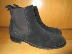 * * * FRAÎCHE Stiefeletten schwarz, Gr.39 * * * | eBay Chelsea Boots, Ankle, Ebay, Shoes, Fashion, Red Clothing, Leather Bag, Clothing Accessories, Black