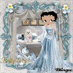 *BETTY BOOP* LADY BLUE WHITE. Posted by Redlandspoodles.com