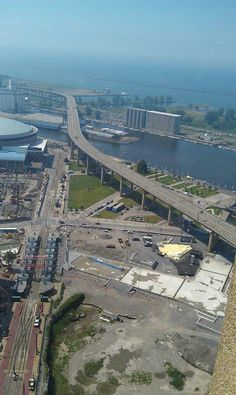 Buffalo NY skyway was built high so ships could go underneath (not anymore).  When weather gets bad, it is closed down quite often.  Winds get so high on top that a man actually blew over the side!
