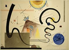 Two Movements 1924 - Vasily Kandinsky (1866-1944 Russian) Watercolor and colored ink on paper